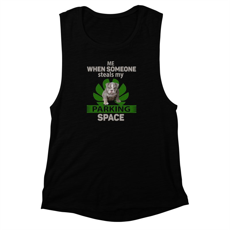 Pittbull Road Rage Women's Muscle Tank by Mini Moo Moo Clothing Company