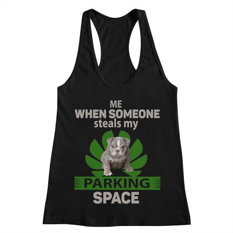 Pittbull Road Rage Women's Racerback Tank by Mini Moo Moo Clothing Company