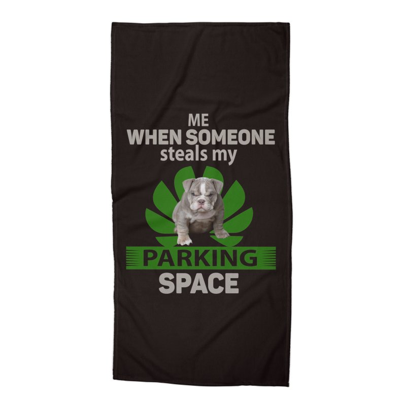Pittbull Road Rage Accessories Beach Towel by Mini Moo Moo Clothing Company