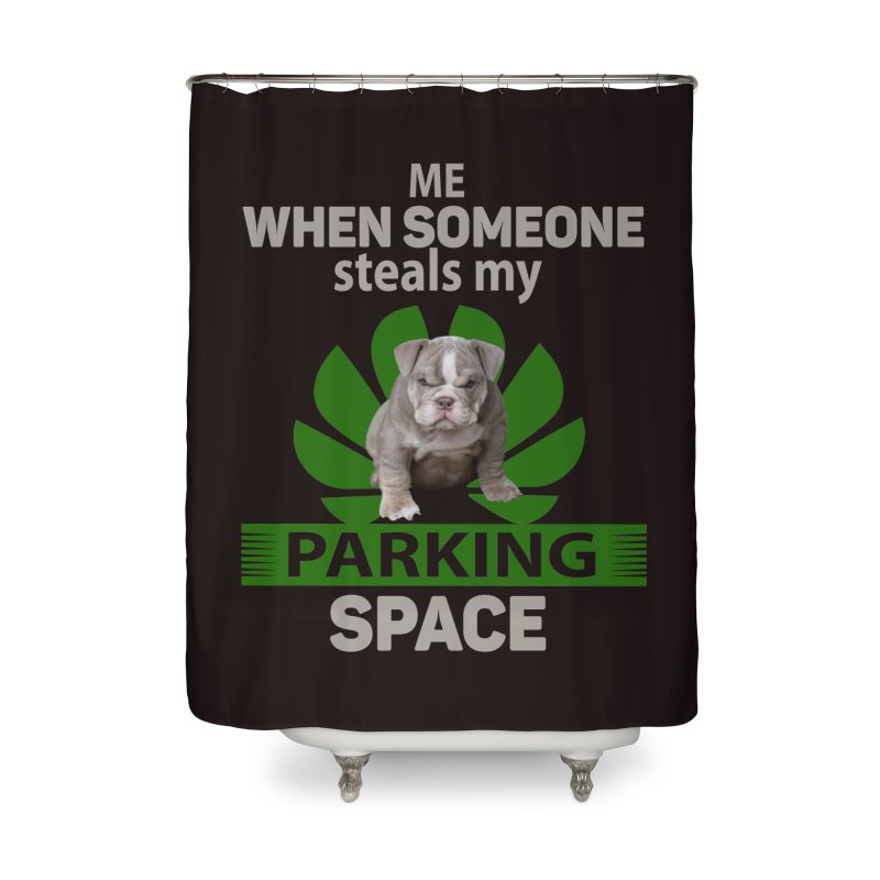 Pittbull Road Rage Home Shower Curtain by Mini Moo Moo Clothing Company