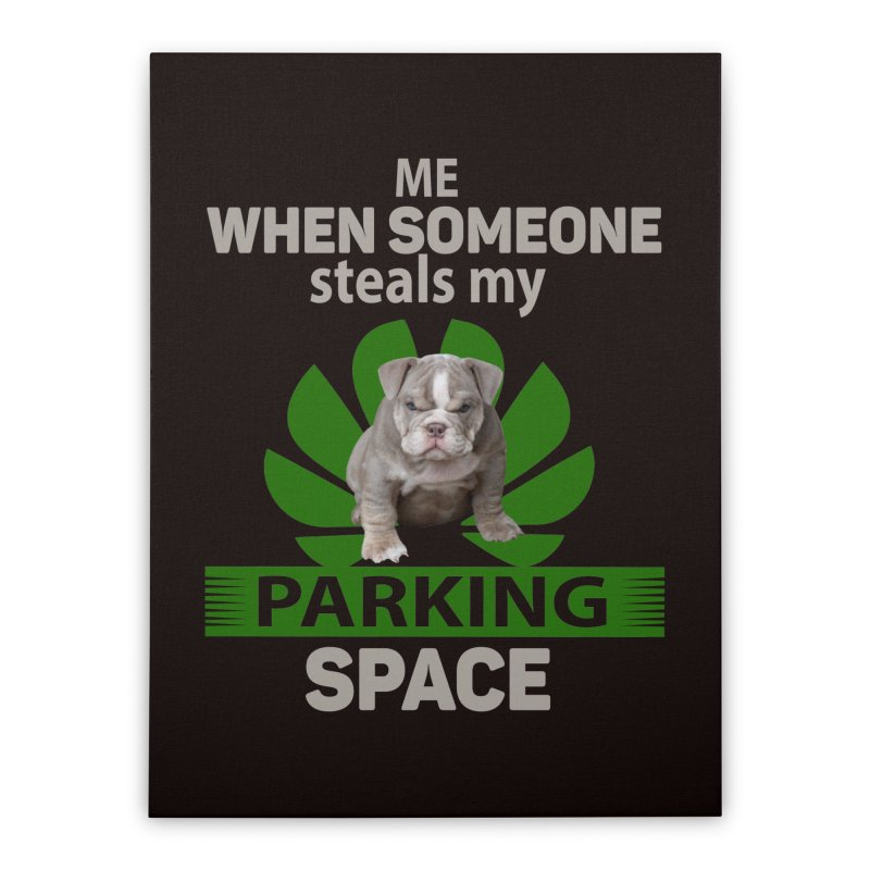 Pittbull Road Rage Home Stretched Canvas by Mini Moo Moo Clothing Company