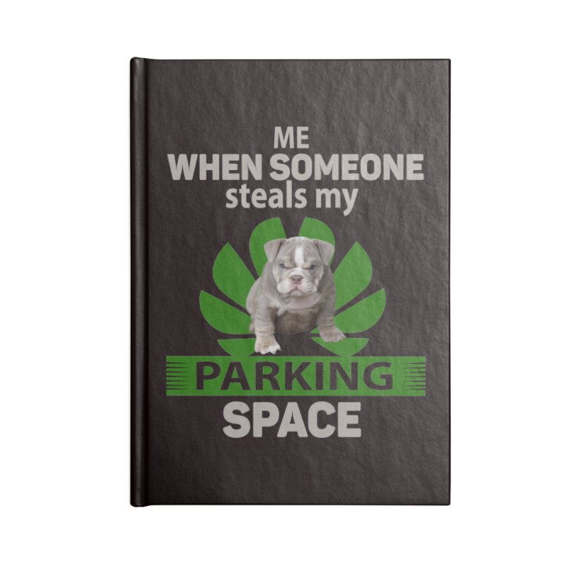 Pittbull Road Rage Accessories Lined Journal Notebook by Mini Moo Moo Clothing Company