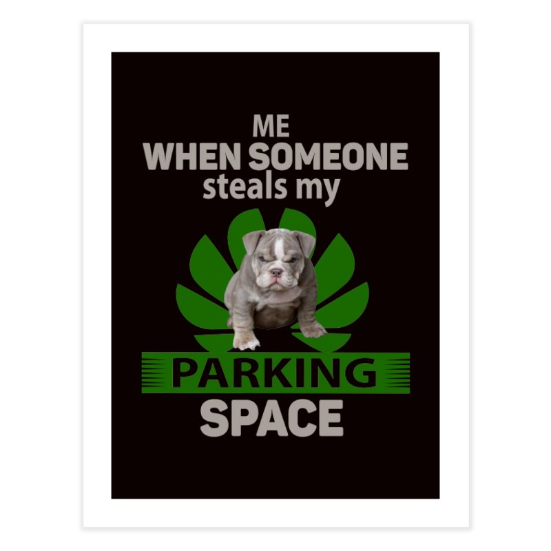 Pittbull Road Rage Home Fine Art Print by Mini Moo Moo Clothing Company