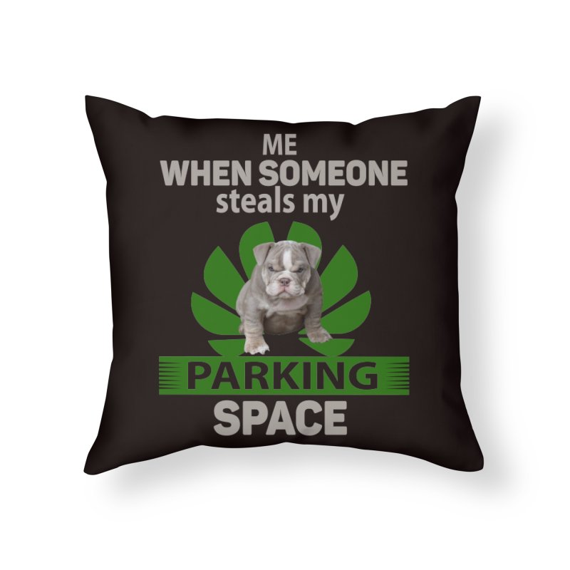 Pittbull Road Rage Home Throw Pillow by Mini Moo Moo Clothing Company