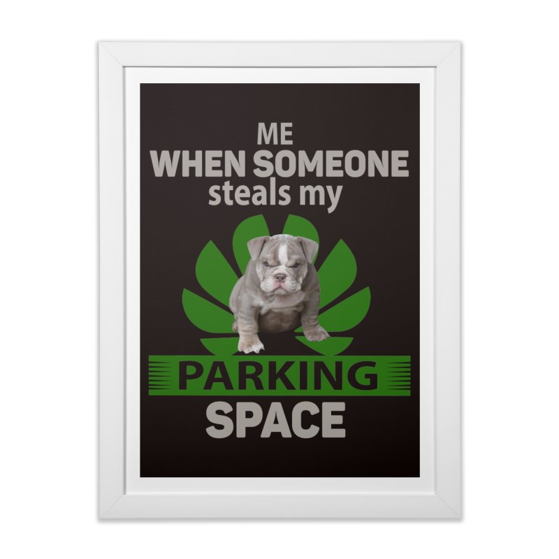 Pittbull Road Rage Home Framed Fine Art Print by Mini Moo Moo Clothing Company