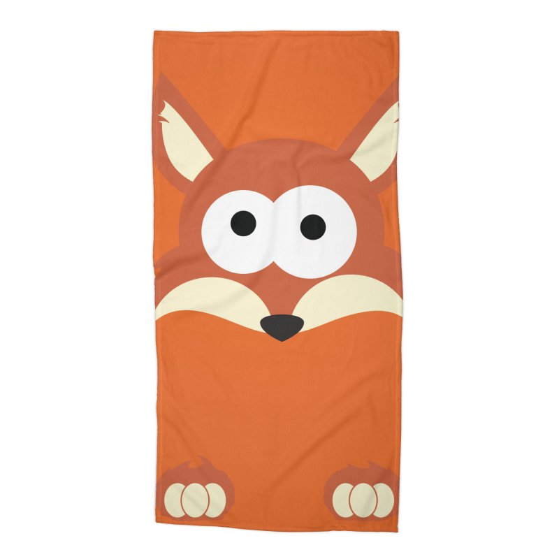 Minnimal Fox Accessories Beach Towel by minnimals's Artist Shop
