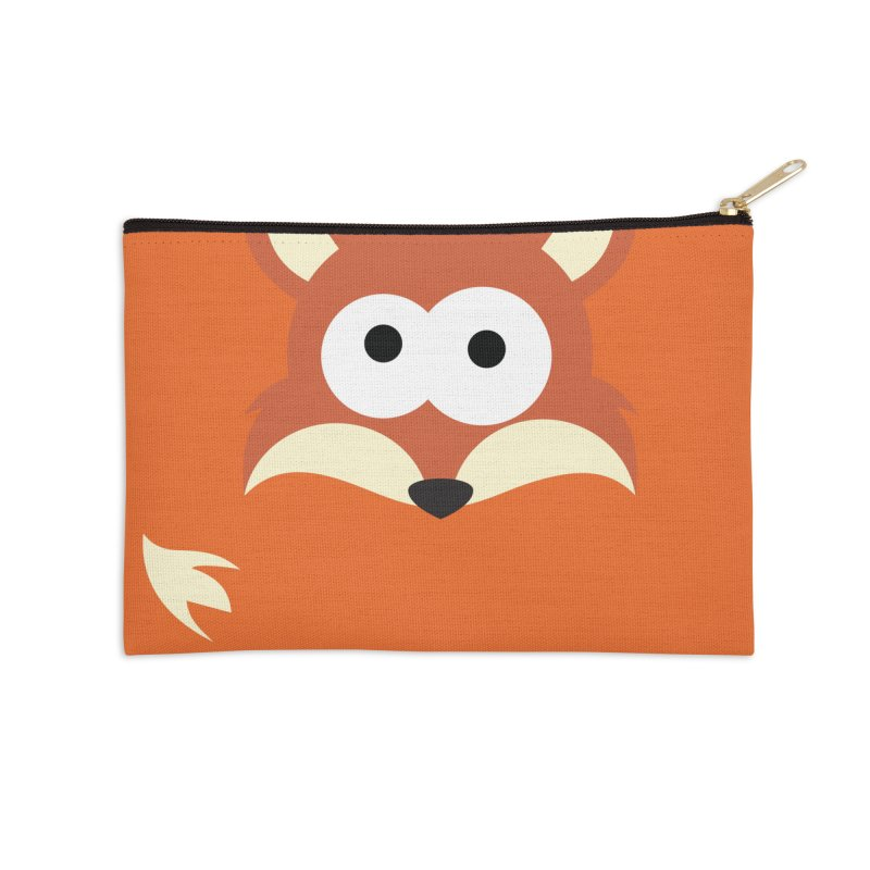 Minnimal Fox Accessories Zip Pouch by minnimals's Artist Shop