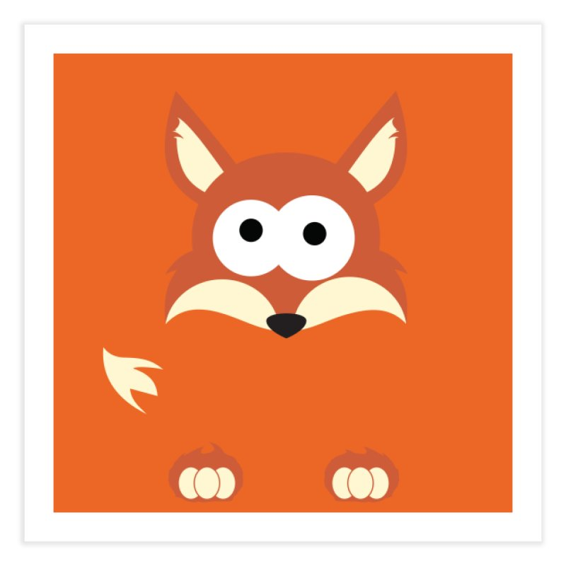 Minnimal Fox Home Fine Art Print by minnimals's Artist Shop