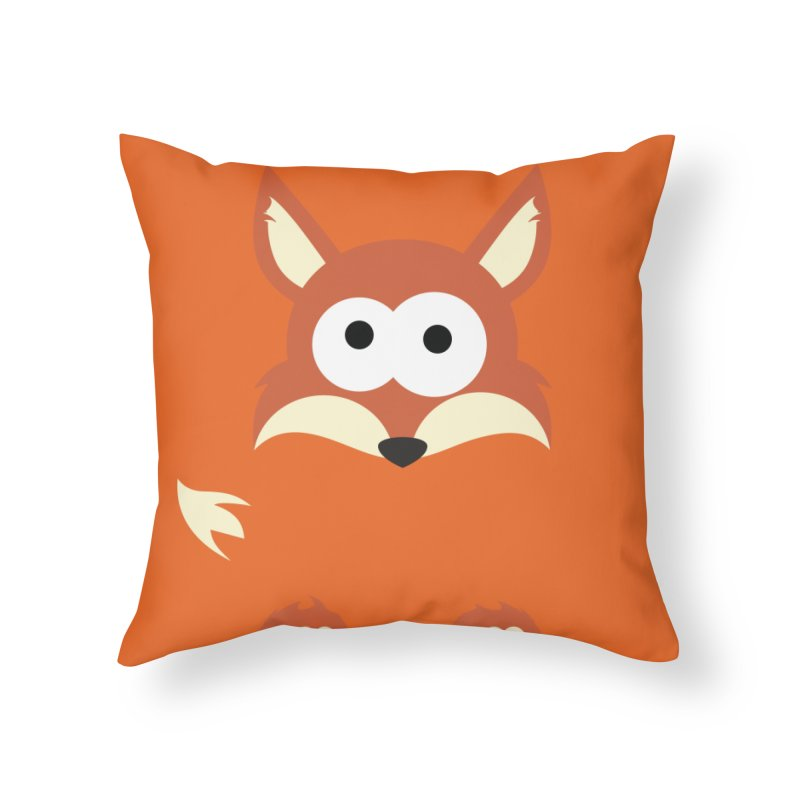 Minnimal Fox Home Throw Pillow by minnimals's Artist Shop