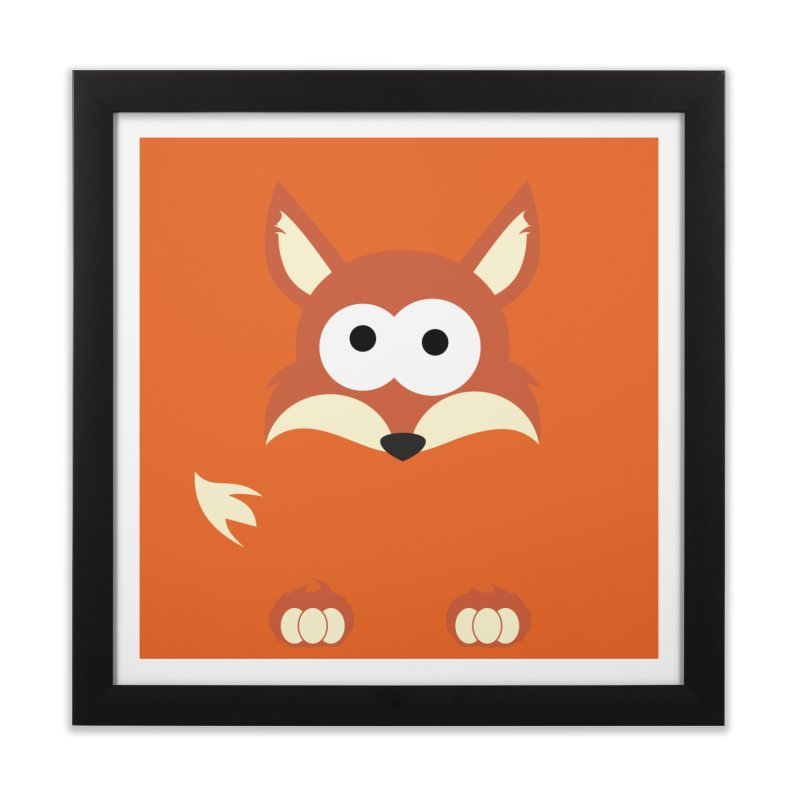 Minnimal Fox Home Framed Fine Art Print by minnimals's Artist Shop