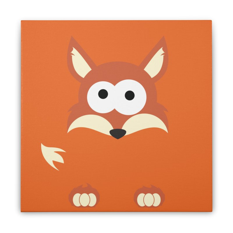 Minnimal Fox Home Stretched Canvas by minnimals's Artist Shop