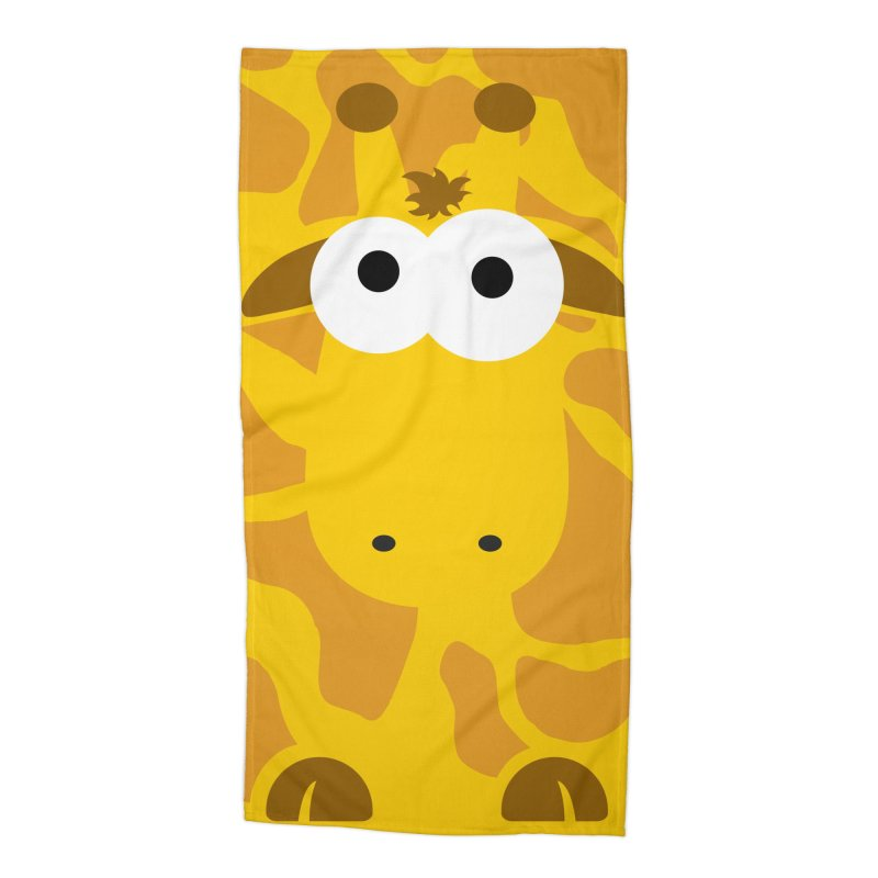 Minnimal Giraffe Accessories Beach Towel by minnimals's Artist Shop