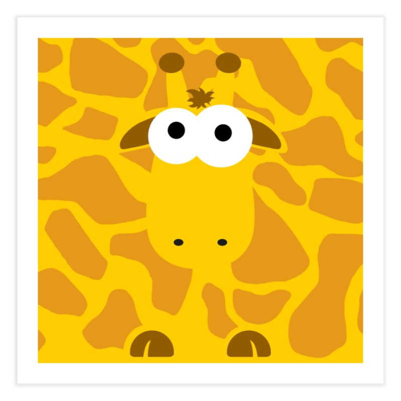 Minnimal Giraffe Home Fine Art Print by minnimals's Artist Shop