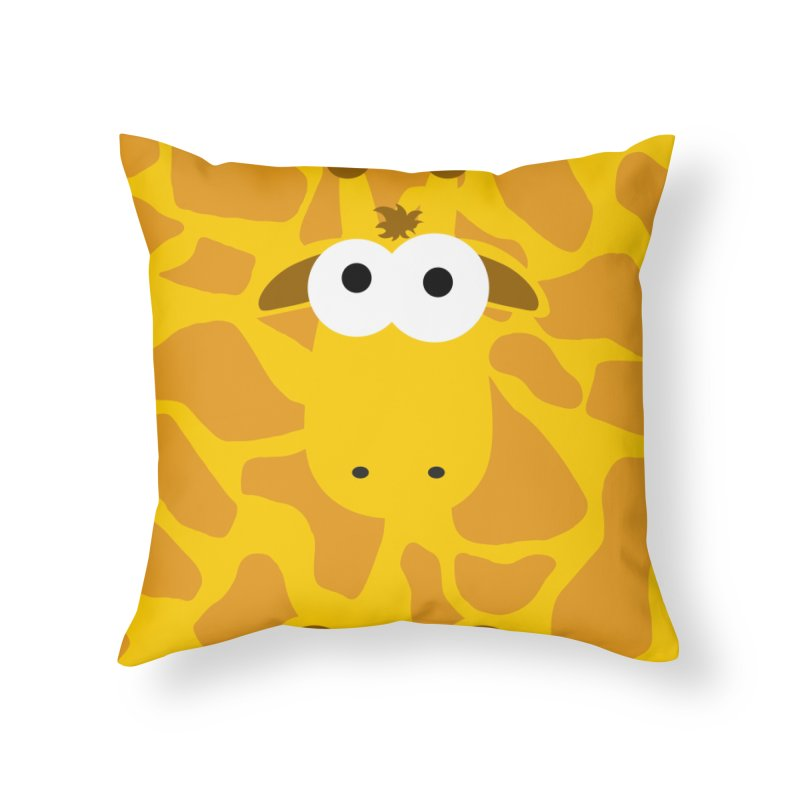 Minnimal Giraffe Home Throw Pillow by minnimals's Artist Shop