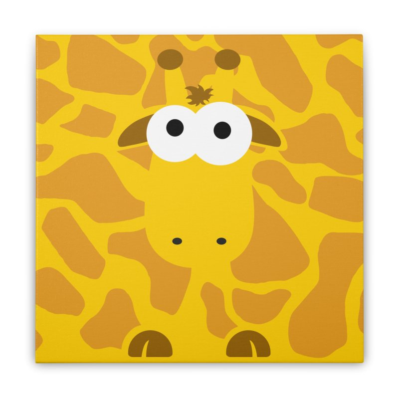 Minnimal Giraffe Home Stretched Canvas by minnimals's Artist Shop