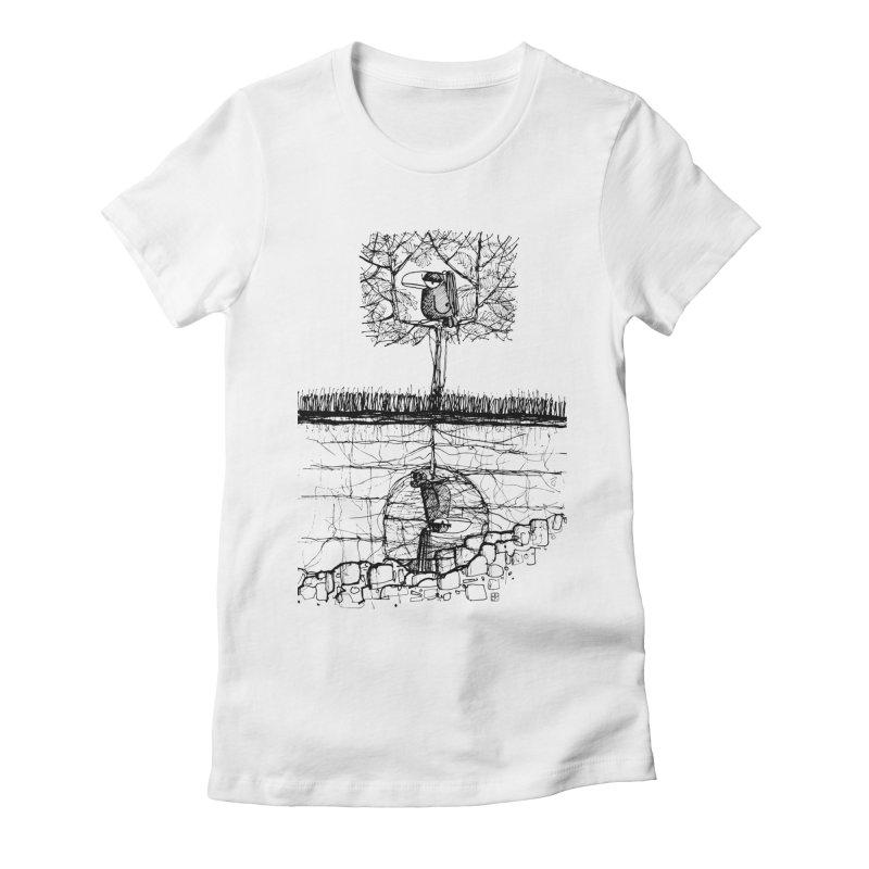 i'm not free Women's Fitted T-Shirt by minoo.nadafian's Artist Shop