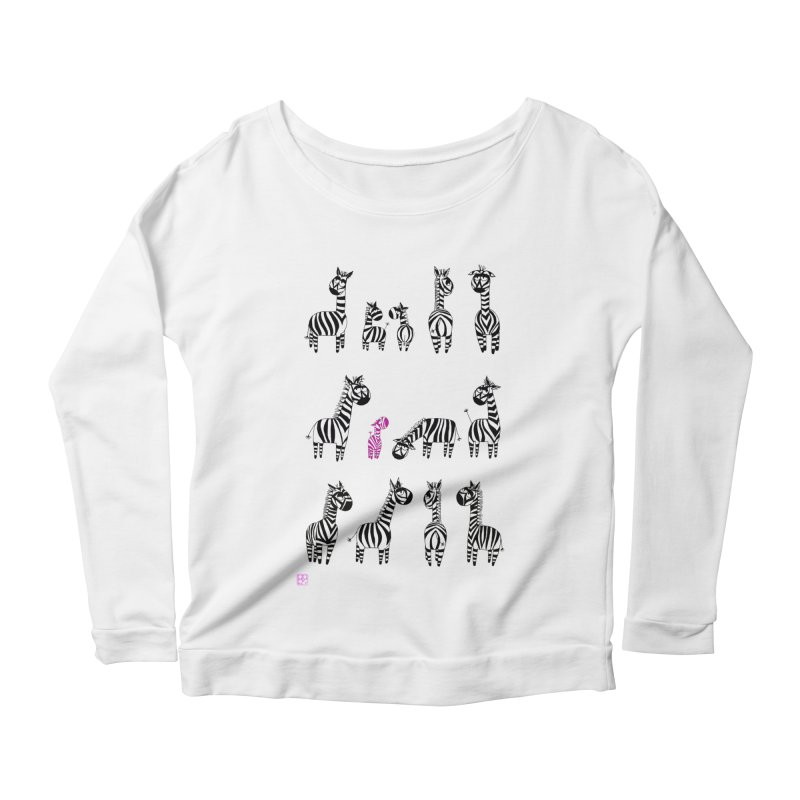i'm the one!!!! Women's Longsleeve Scoopneck  by minoo.nadafian's Artist Shop