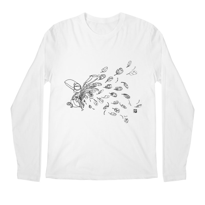 how to fly of all of his feathers? Men's Longsleeve T-Shirt by minoo.nadafian's Artist Shop