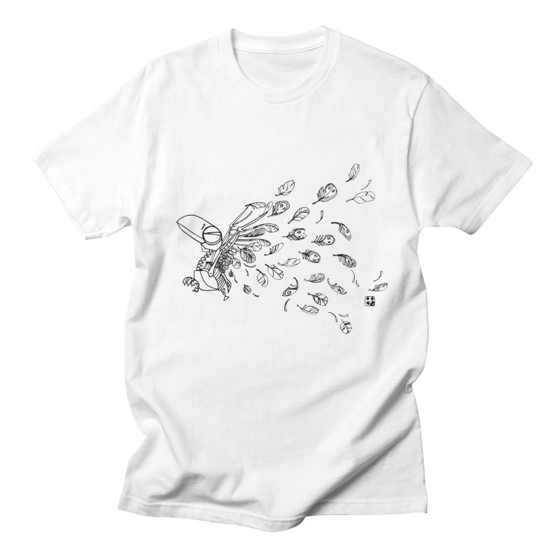 how to fly of all of his feathers? Men's T-shirt by minoo.nadafian's Artist Shop