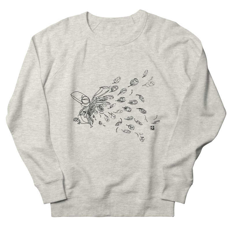 how to fly of all of his feathers? Men's Sweatshirt by minoo.nadafian's Artist Shop