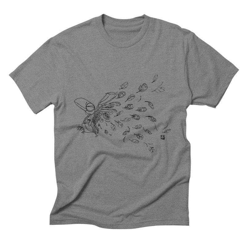 how to fly of all of his feathers? Men's Triblend T-Shirt by minoo.nadafian's Artist Shop
