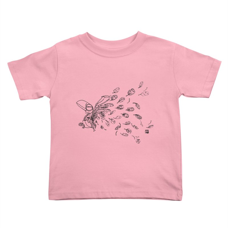 how to fly of all of his feathers? Kids Toddler T-Shirt by minoo.nadafian's Artist Shop