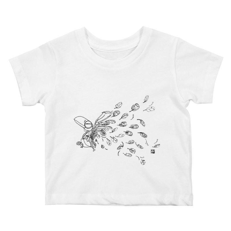 how to fly of all of his feathers? Kids Baby T-Shirt by minoo.nadafian's Artist Shop
