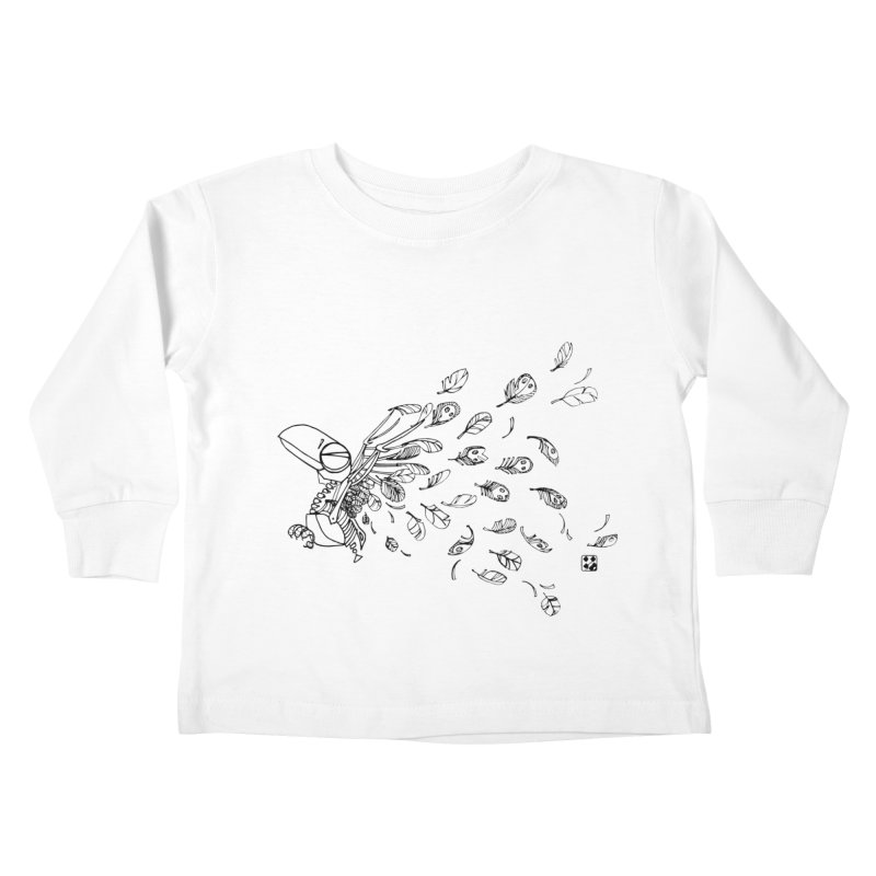 how to fly of all of his feathers? Kids Toddler Longsleeve T-Shirt by minoo.nadafian's Artist Shop