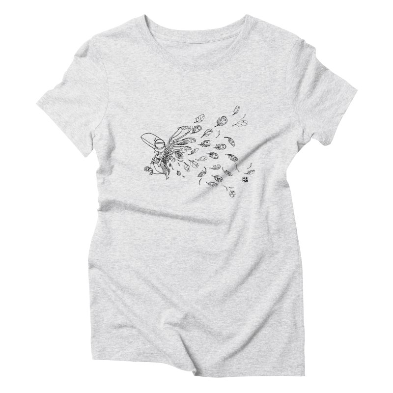 how to fly of all of his feathers? Women's Triblend T-Shirt by minoo.nadafian's Artist Shop
