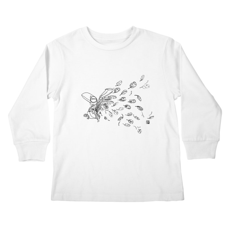 how to fly of all of his feathers? Kids Longsleeve T-Shirt by minoo.nadafian's Artist Shop