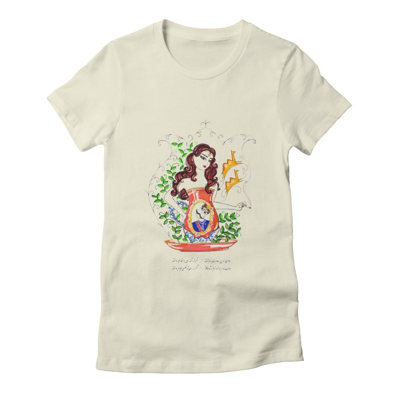 contemporary oriental girl Women's Fitted T-Shirt by minoo.nadafian's Artist Shop