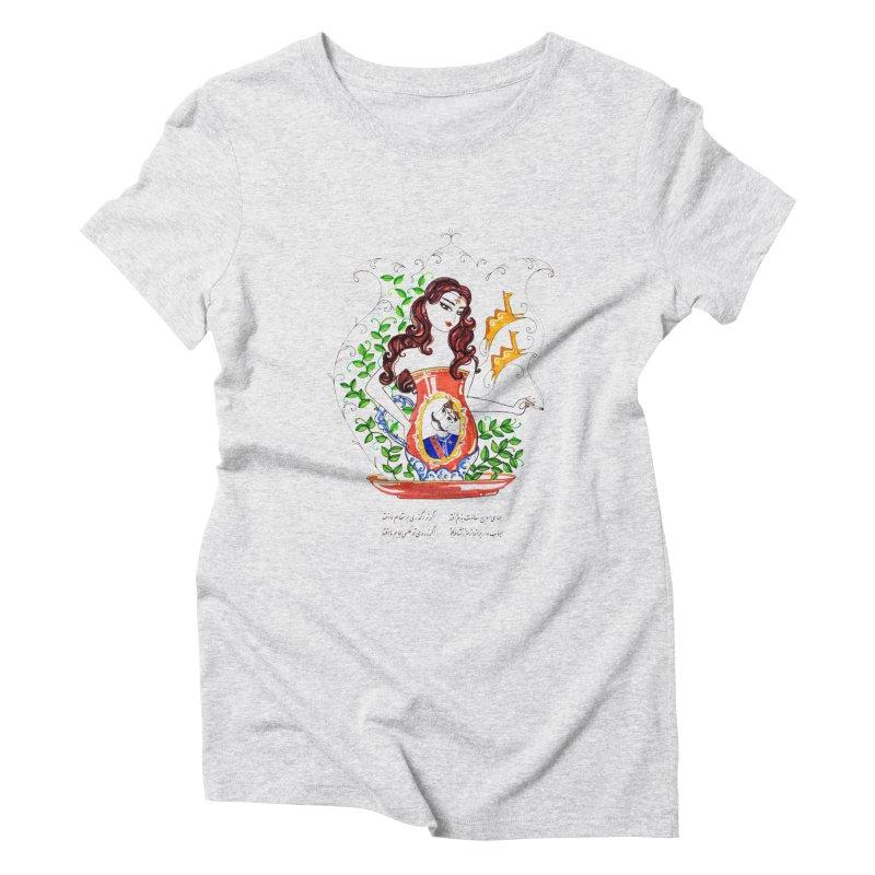 contemporary oriental girl Women's Triblend T-Shirt by minoo.nadafian's Artist Shop