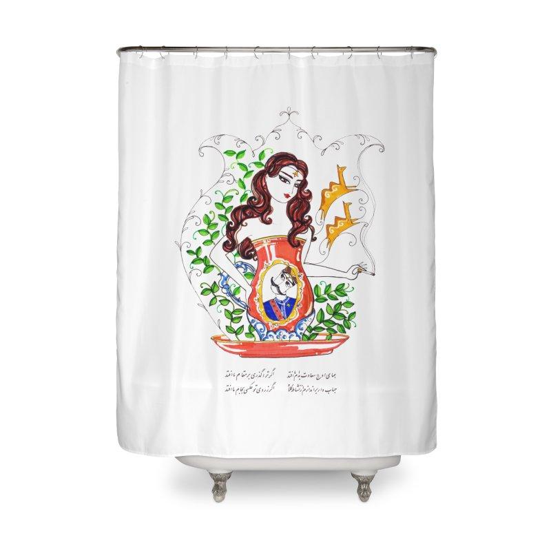 contemporary oriental girl Home Shower Curtain by minoo.nadafian's Artist Shop