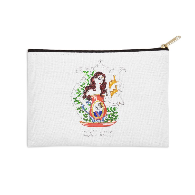 contemporary oriental girl Accessories Zip Pouch by minoo.nadafian's Artist Shop