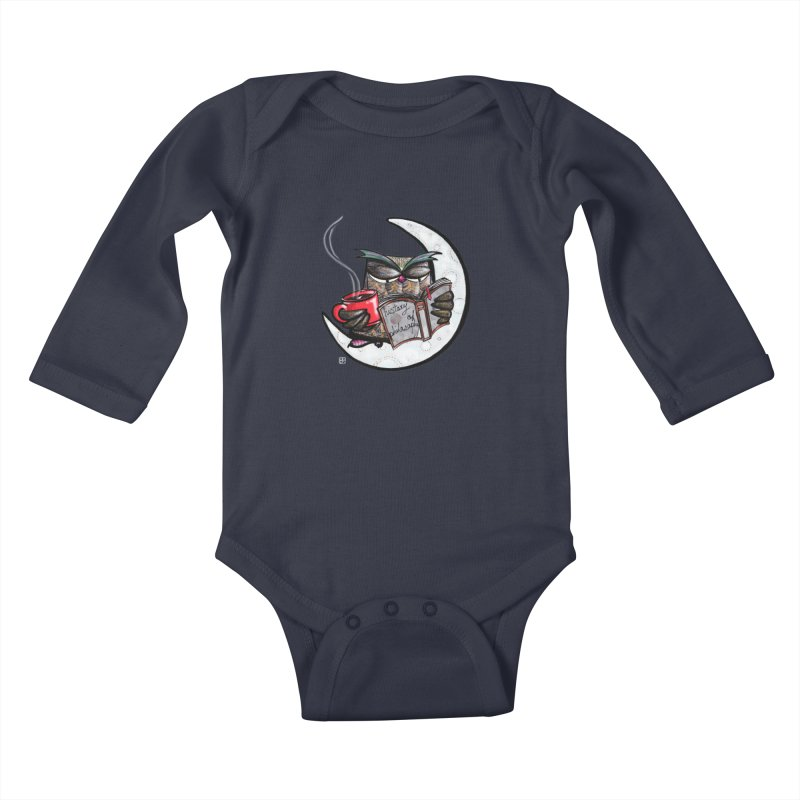 fighting with the night Kids Baby Longsleeve Bodysuit by minoo.nadafian's Artist Shop