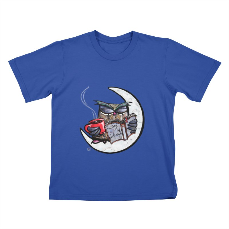 fighting with the night Kids T-Shirt by minoo.nadafian's Artist Shop