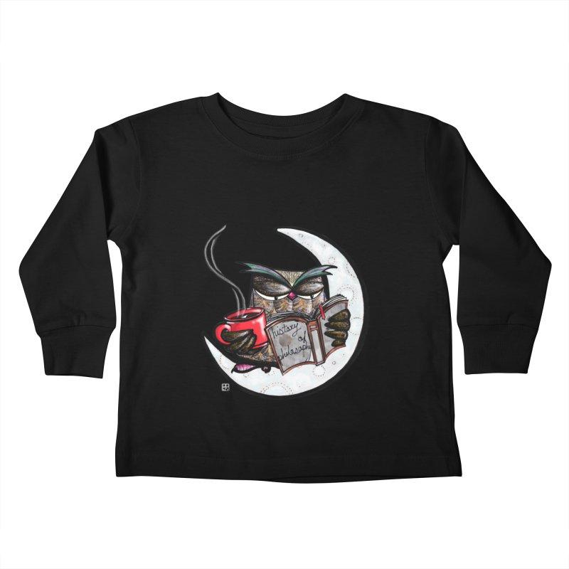 fighting with the night Kids Toddler Longsleeve T-Shirt by minoo.nadafian's Artist Shop
