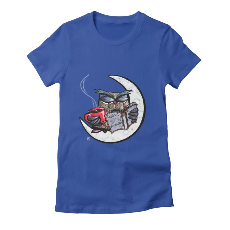 fighting with the night Women's Fitted T-Shirt by minoo.nadafian's Artist Shop