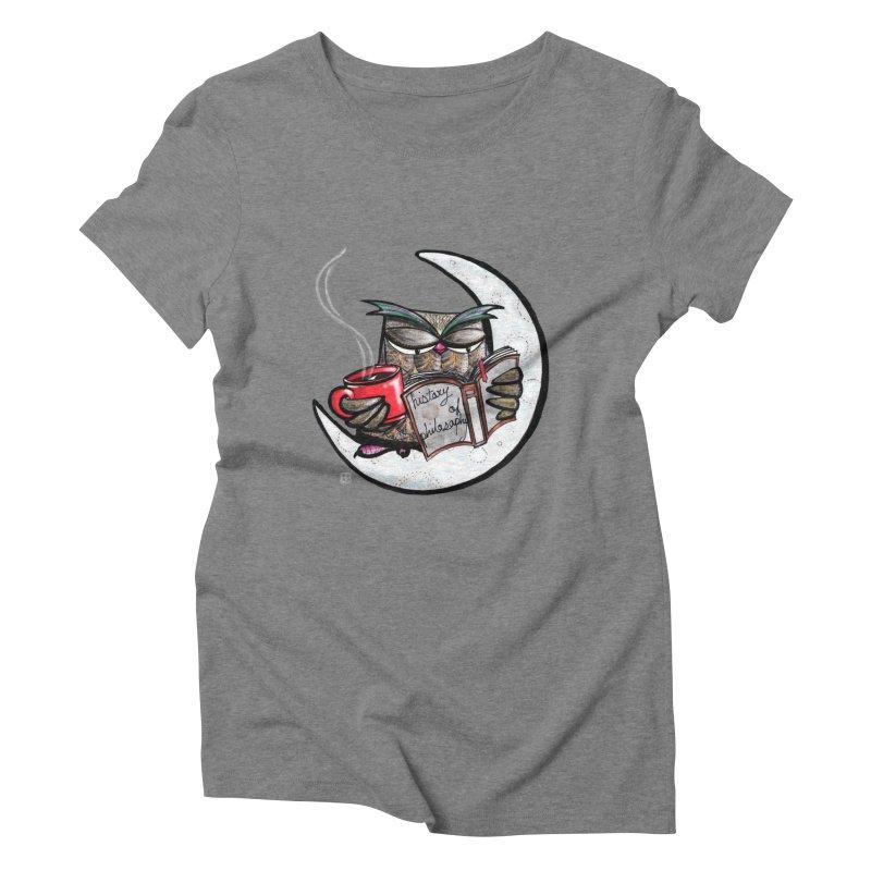 fighting with the night Women's Triblend T-Shirt by minoo.nadafian's Artist Shop