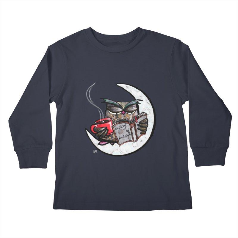 fighting with the night Kids Longsleeve T-Shirt by minoo.nadafian's Artist Shop