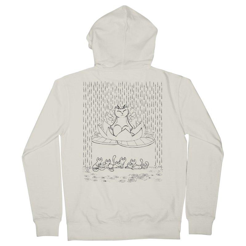 buddha-cat Men's Zip-Up Hoody by minoo.nadafian's Artist Shop
