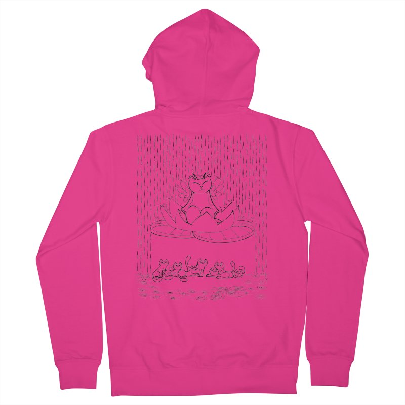 buddha-cat Men's Zip-Up Hoody by minoo.nadafian's Artist Shop
