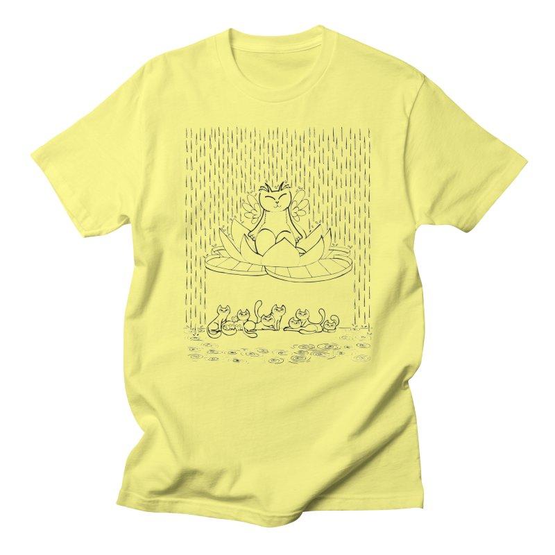 buddha-cat Men's T-Shirt by minoo.nadafian's Artist Shop