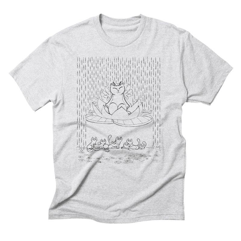 buddha-cat Men's Triblend T-Shirt by minoo.nadafian's Artist Shop
