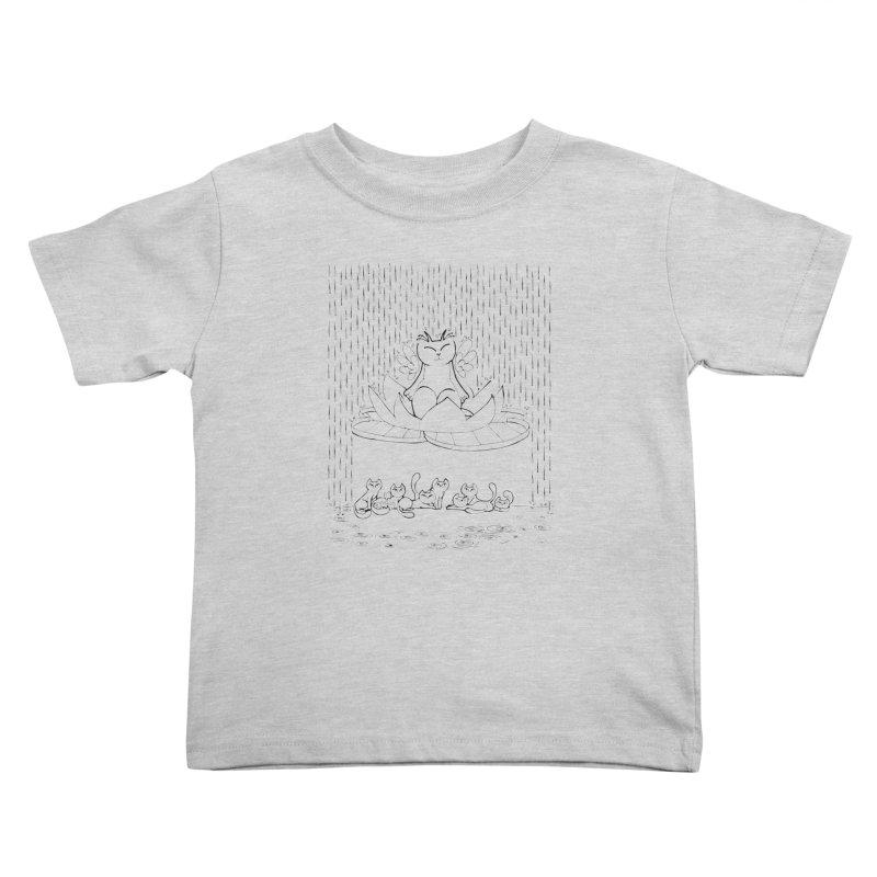buddha-cat Kids Toddler T-Shirt by minoo.nadafian's Artist Shop