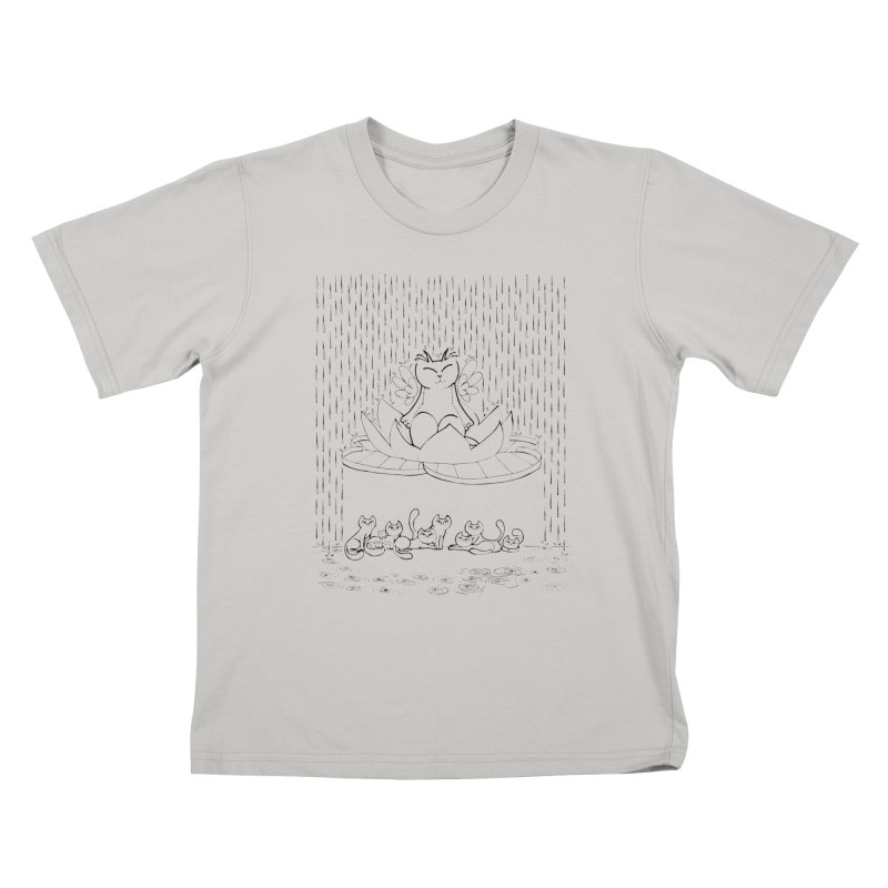 buddha-cat Kids T-Shirt by minoo.nadafian's Artist Shop