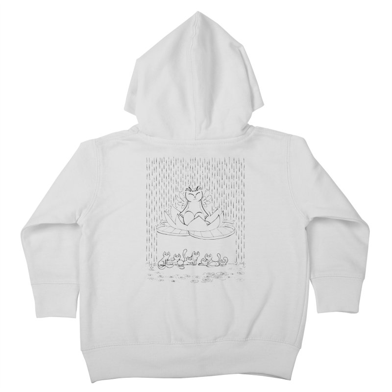 buddha-cat Kids Toddler Zip-Up Hoody by minoo.nadafian's Artist Shop