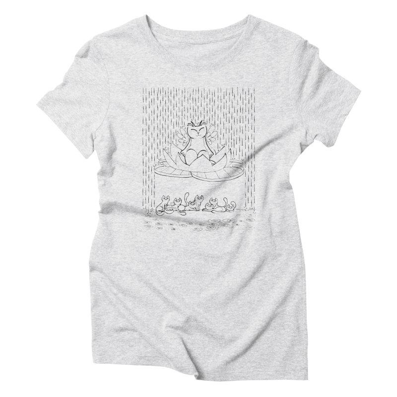 buddha-cat Women's Triblend T-Shirt by minoo.nadafian's Artist Shop