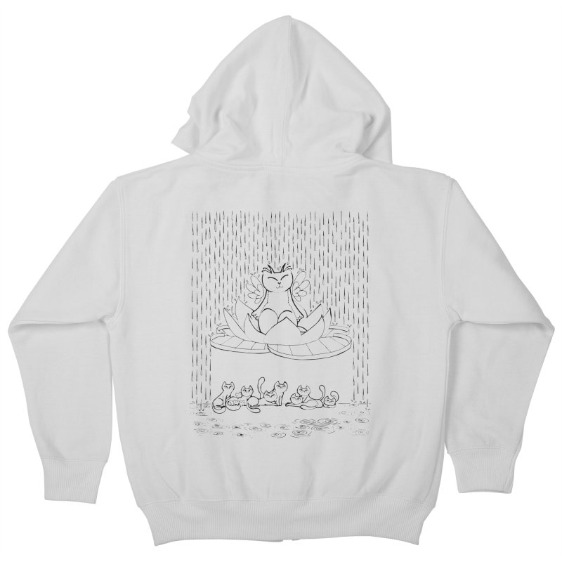 buddha-cat Kids Zip-Up Hoody by minoo.nadafian's Artist Shop