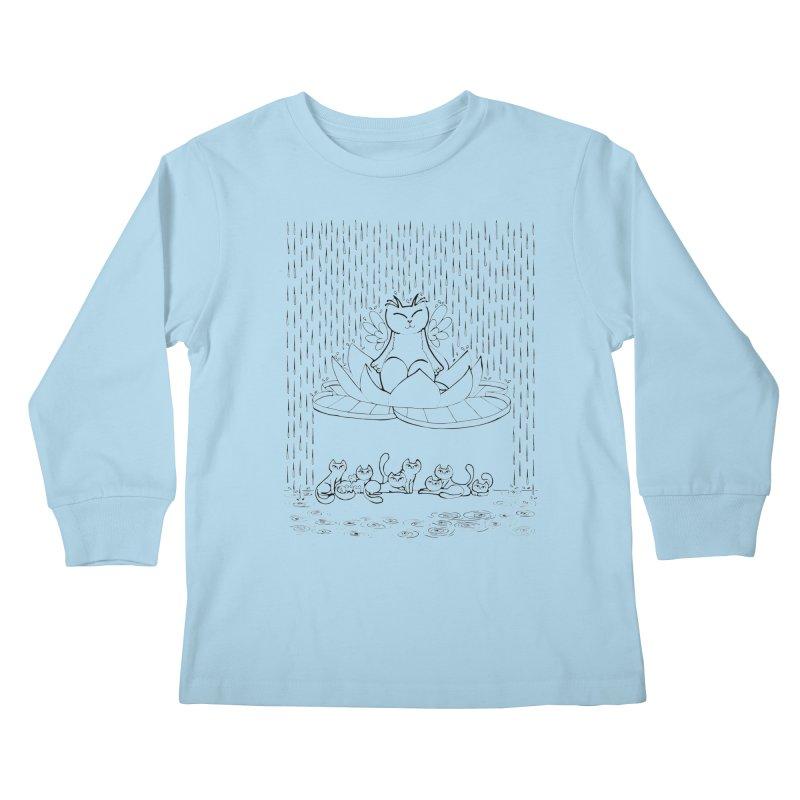 buddha-cat Kids Longsleeve T-Shirt by minoo.nadafian's Artist Shop